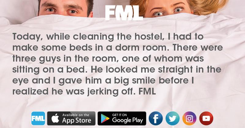 Man jerks off after cleaning