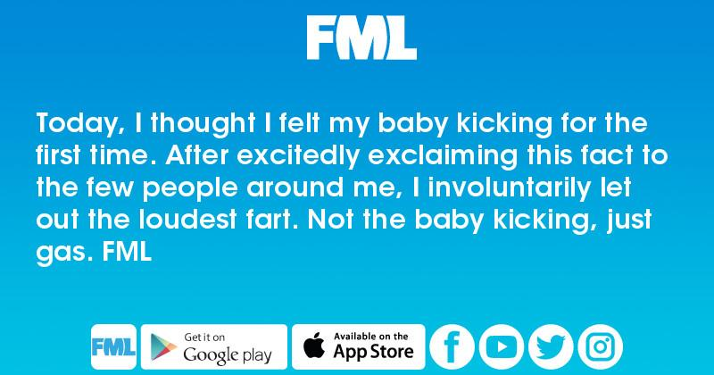 Today, I thought I felt my baby kicking for the first time
