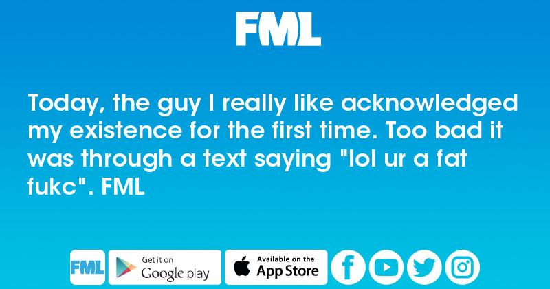 Text first time for How guy a the to