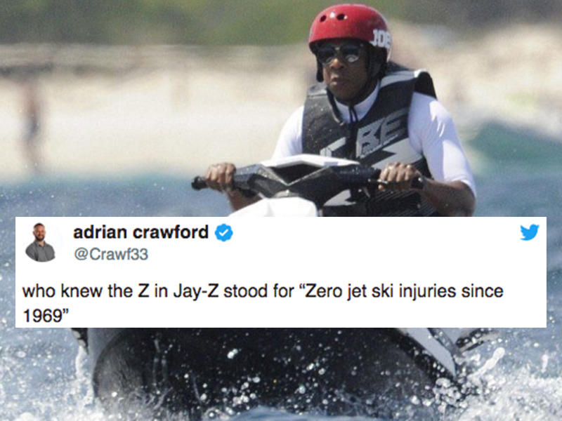 The Jay Z On A Jet Ski Meme Has Blown Up Here Are The 17 Funniest Ones Fml