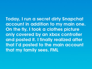 Today I Run A Secret Dirty Snapchat Account In Addition To My Main One On The Fly I Took A Clothes Picture Only Covered By An Xbox Controller And Posted