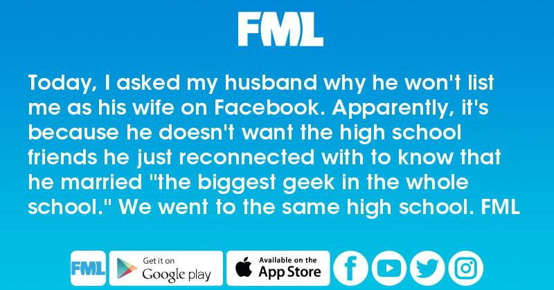 Today, I asked my husband why he won't list me as his wife on