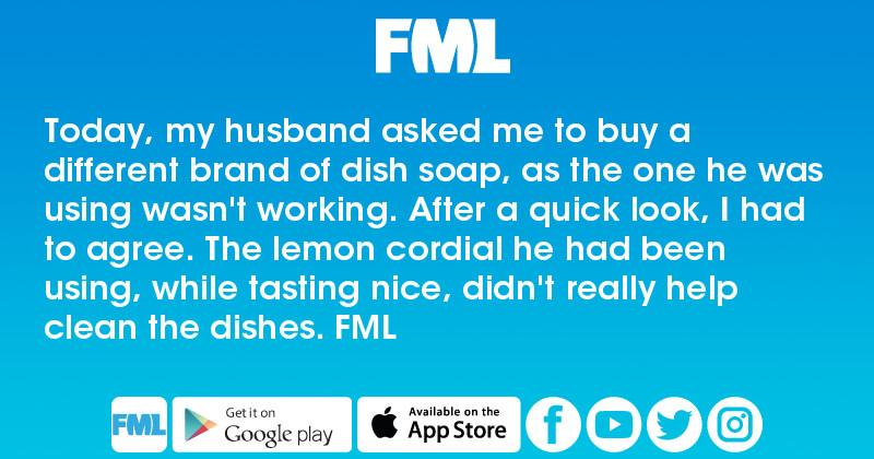 Today, my husband asked me to buy a different brand of dish soap, as