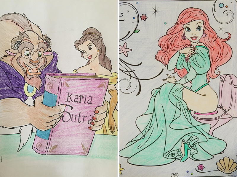 24 Times Adults Turned Innocent Children S Coloring Books