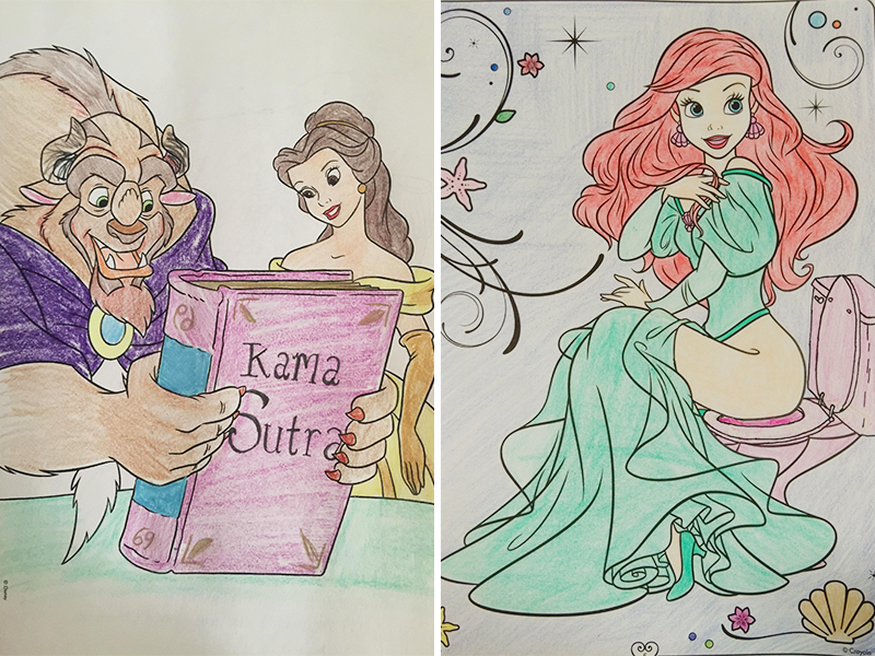 24 Times Adults Turned Innocent Childrens Coloring Books Into NSFW Canvases For Their Twisted Psyches