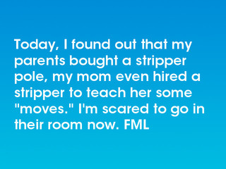 Parents found out stripper