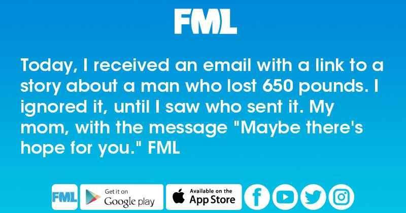 Today I Received An Email With A Link To A Story About A Man Fml
